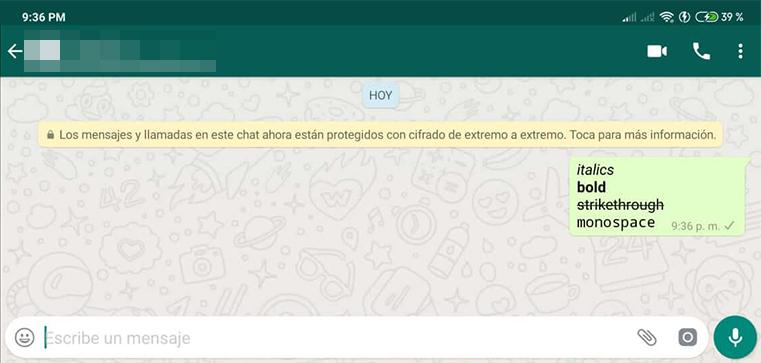 formatos letra whatsapp mensaje