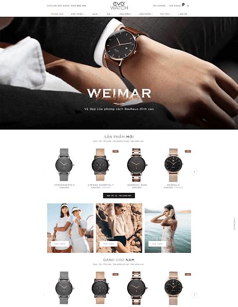 Template blogspot bán đồng hồ đẹp chuẩn seo