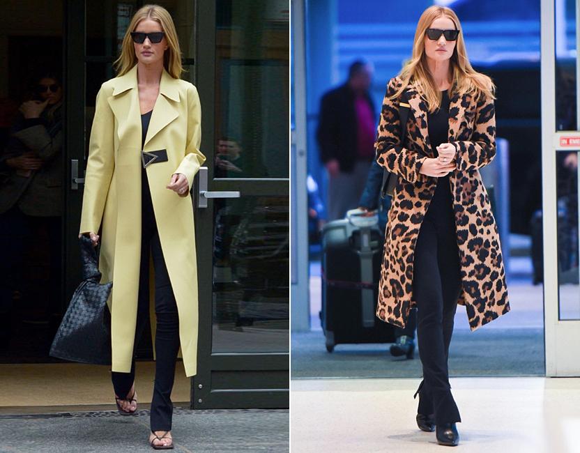 Rosie Huntington o cómo cambiar de abrigo renueva tu look