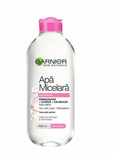 Apa micelara pentru ten sensibil Garnier Skin Naturals Expert, 400 ml