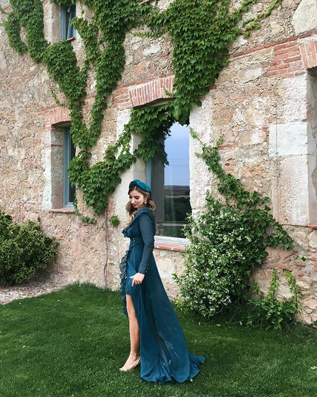 invitada vestido largo boda mireia barcelona a medida