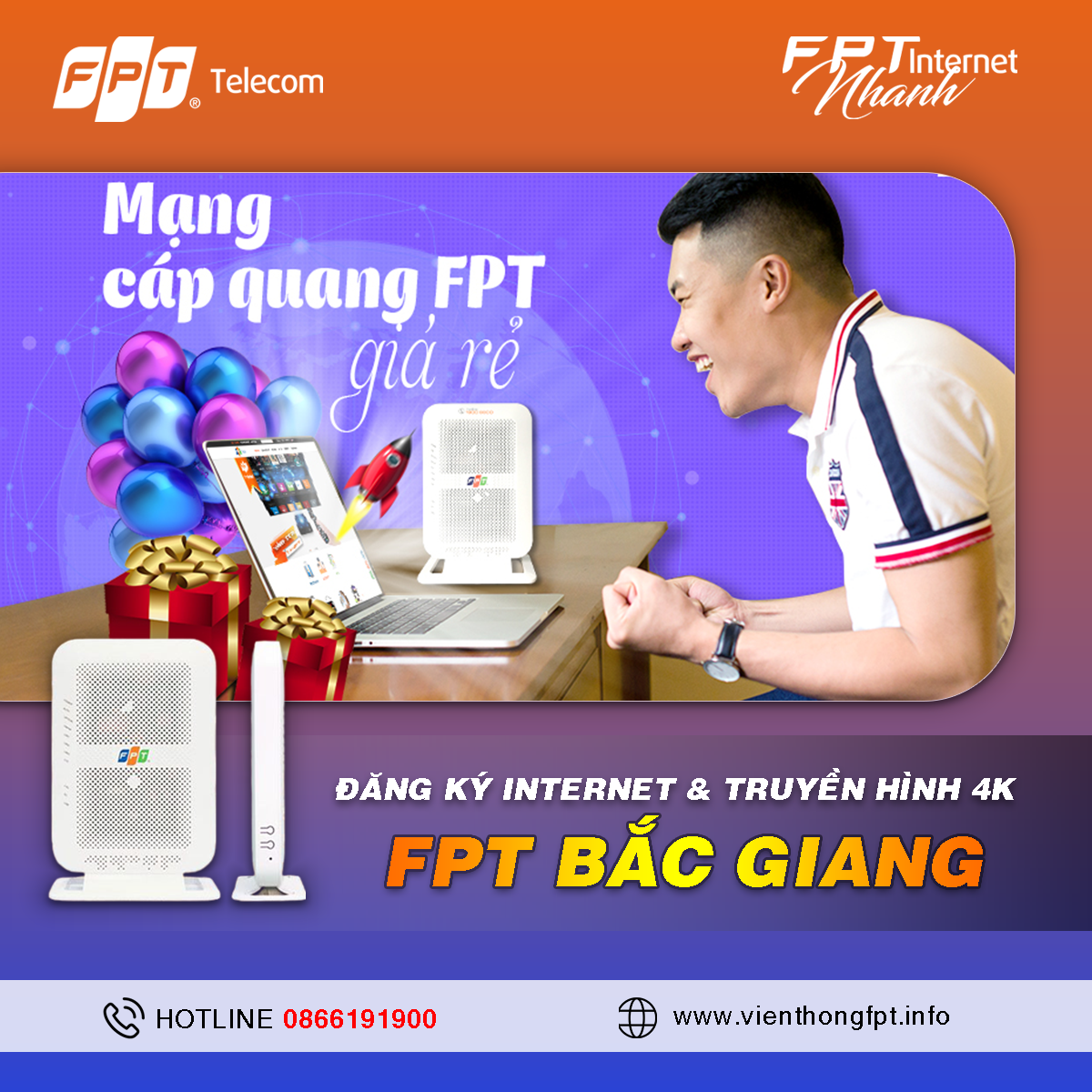 Tổng đài Đăng ký Internet FPT Bắc Giang