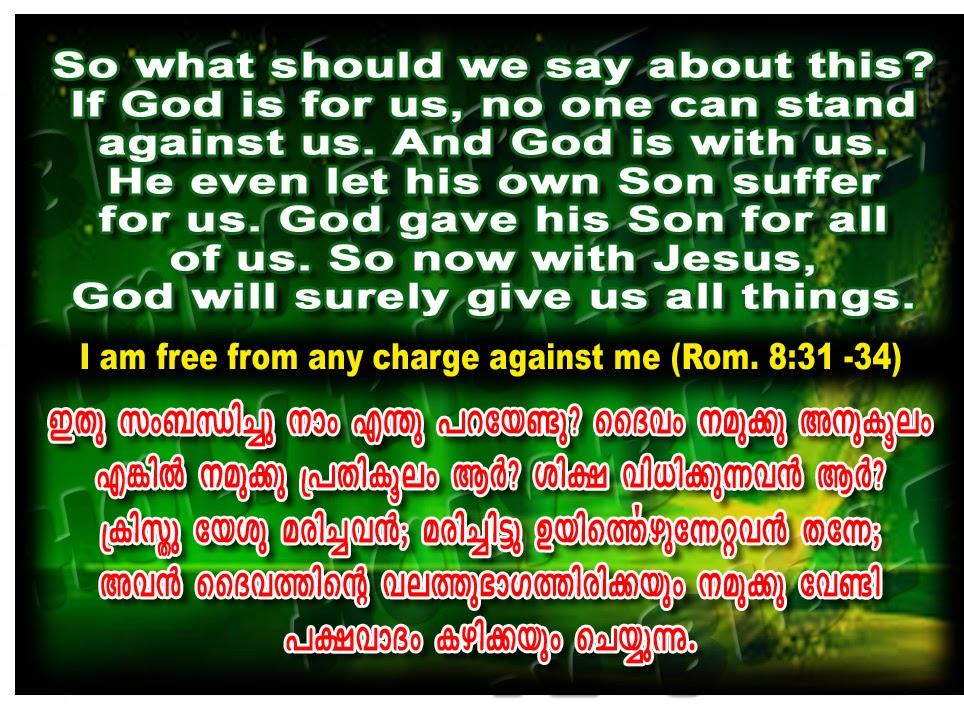 Romans 8:31, english malayalam bible verse, bible verse image, bible