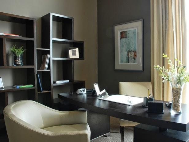 Oficina paredes grises