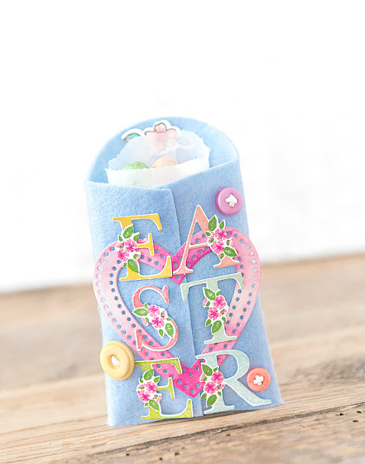 Easter Jelly Bean Pouches - Papertrey Ink Botanical Letters