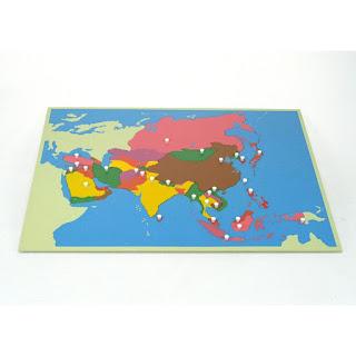 Puzzle map montessori