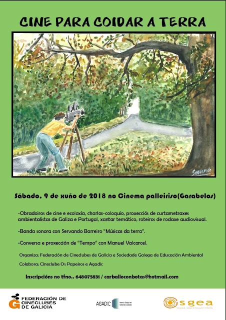 Cartaz «Cinema para coidar a terra»