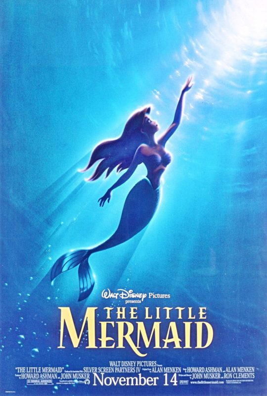 Original film poster The Little Mermaid 1989 movieloversreviews.filminspector.com