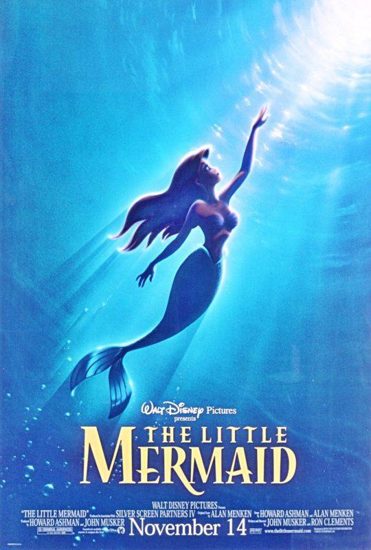 Original film poster The Little Mermaid 1989 movieloversreviews.filminspector.com