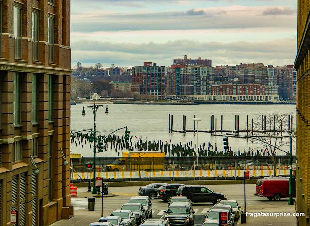 Rio Hudson visto do High Line Park, Nova York