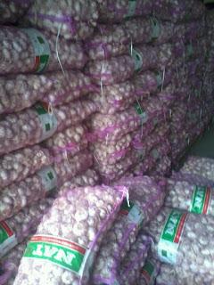 harga jual bawang putih di Teluk wondama