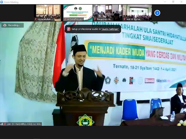 KH Dr Nashirul Haq Resmi Buka DMU Tingkat SMA se-Nasional dari Ternate