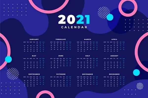 Vector de calendario 2021 abstractor