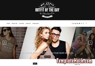 outfit dark blogger template