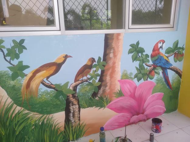 Lukis Dinding Mural Dinding Sekolah