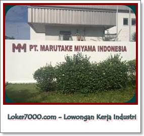 Lowongan Kerja Karawang PT Marutake Miyama Indonesia KIIC Terbaru 2019