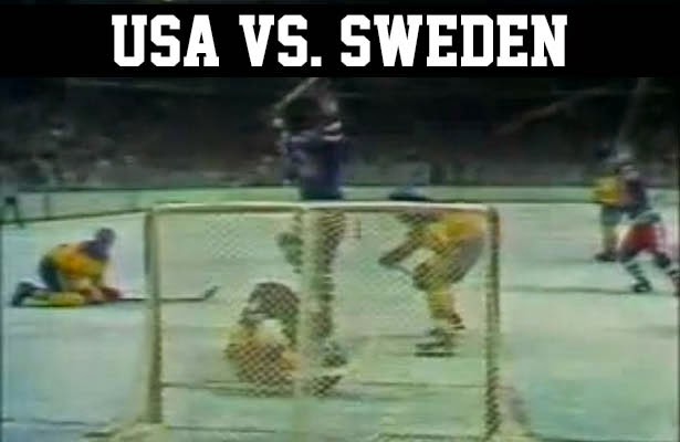 USA vs. Sweden at the Lake Placid 1980 Olympic Winter Games