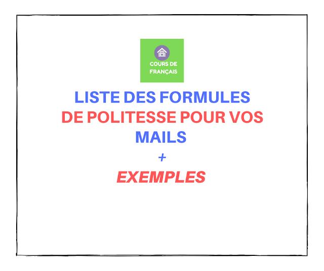 Liste des formules de politesse pour vos mails
