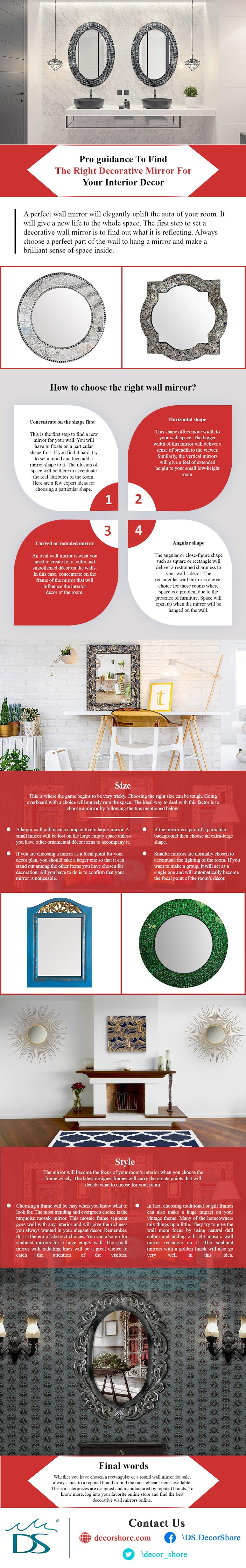 Pro Guidance To Find The Right Decorative Mirror For Your Interior Decor #infographic #Home #Home Improvement