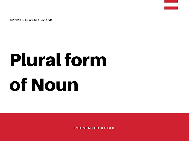 Pengertian tentang Plular form of noun secara lengkap
