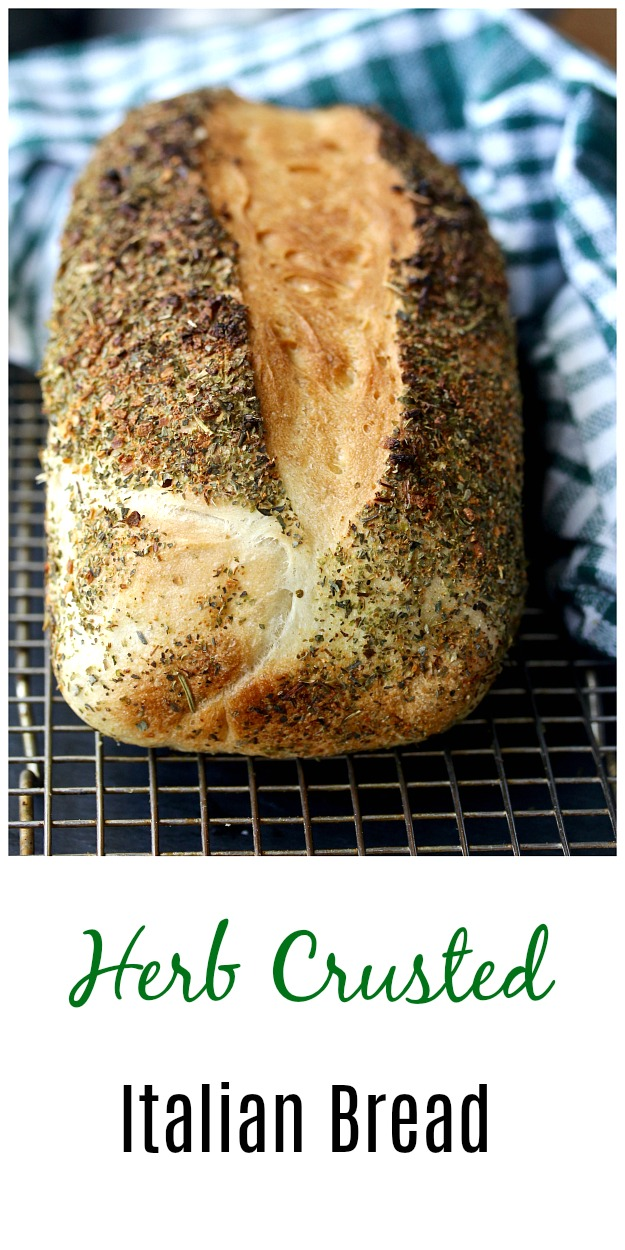 Easy Homemade Herb Crusted Italian Bread