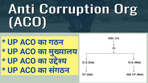 ACO UP | ACO UP - Complete Details in Hindi | ACO (Anti Curruption Organisation) UP (Uttar Pradesh)- सम्पूर्ण विवरण