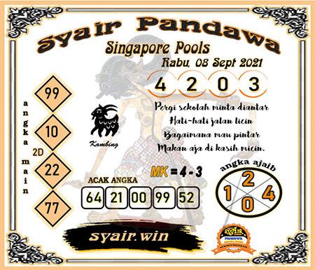 Syair Pandawa SGP Rabu 08-Sep-2021