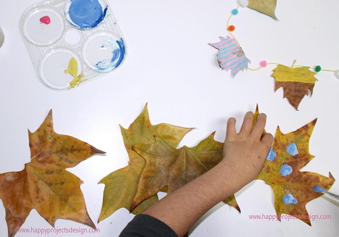 5 ecocrafs navideñas: hojas