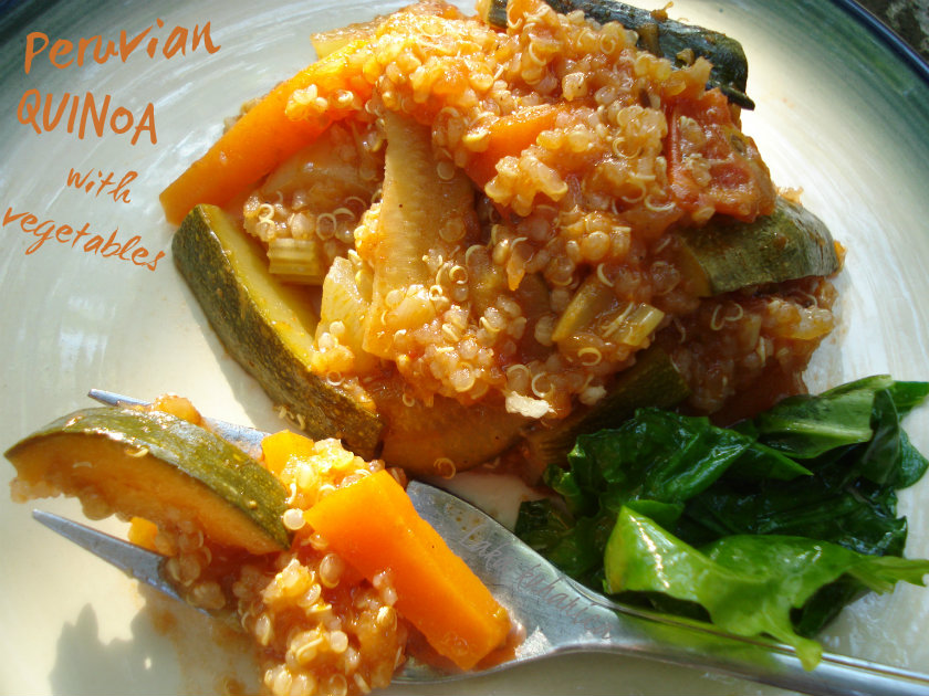 Peruvian quinoa casserole with vegetables by Laka kuharica: unassuming and excellent dish that can feed crowds.