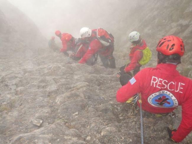 Σε εξέλιξη επιχείρηση διάσωσης ορειβατών στον Όλυμπο