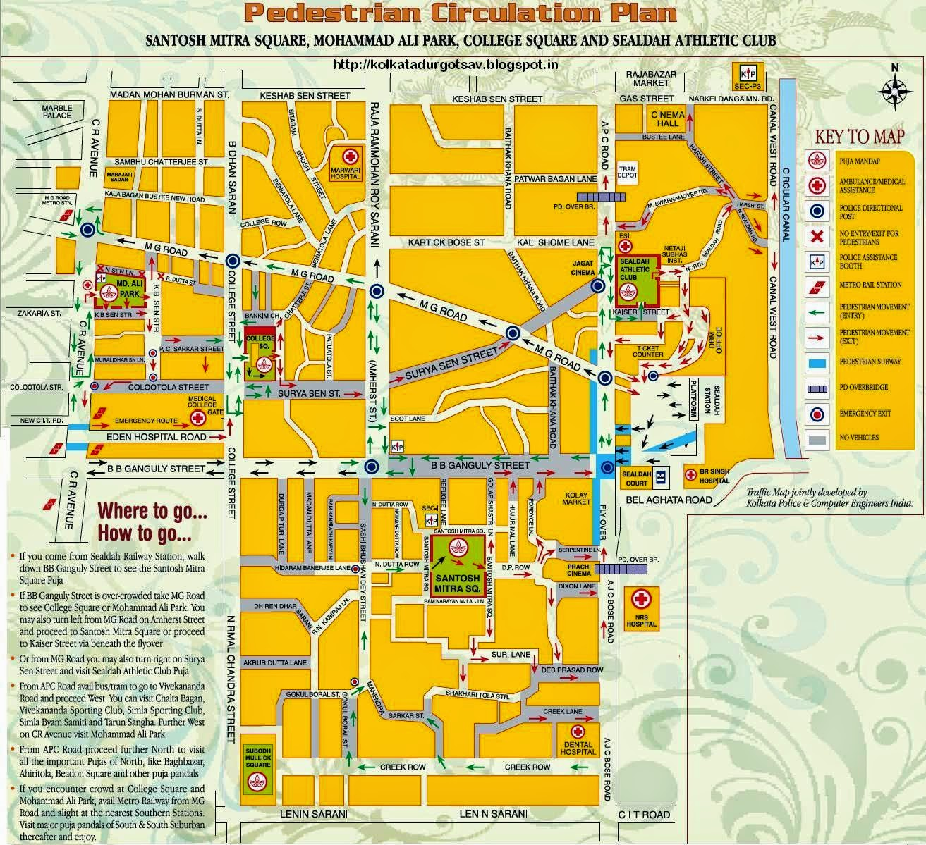 Pedestrian Circulation Map
