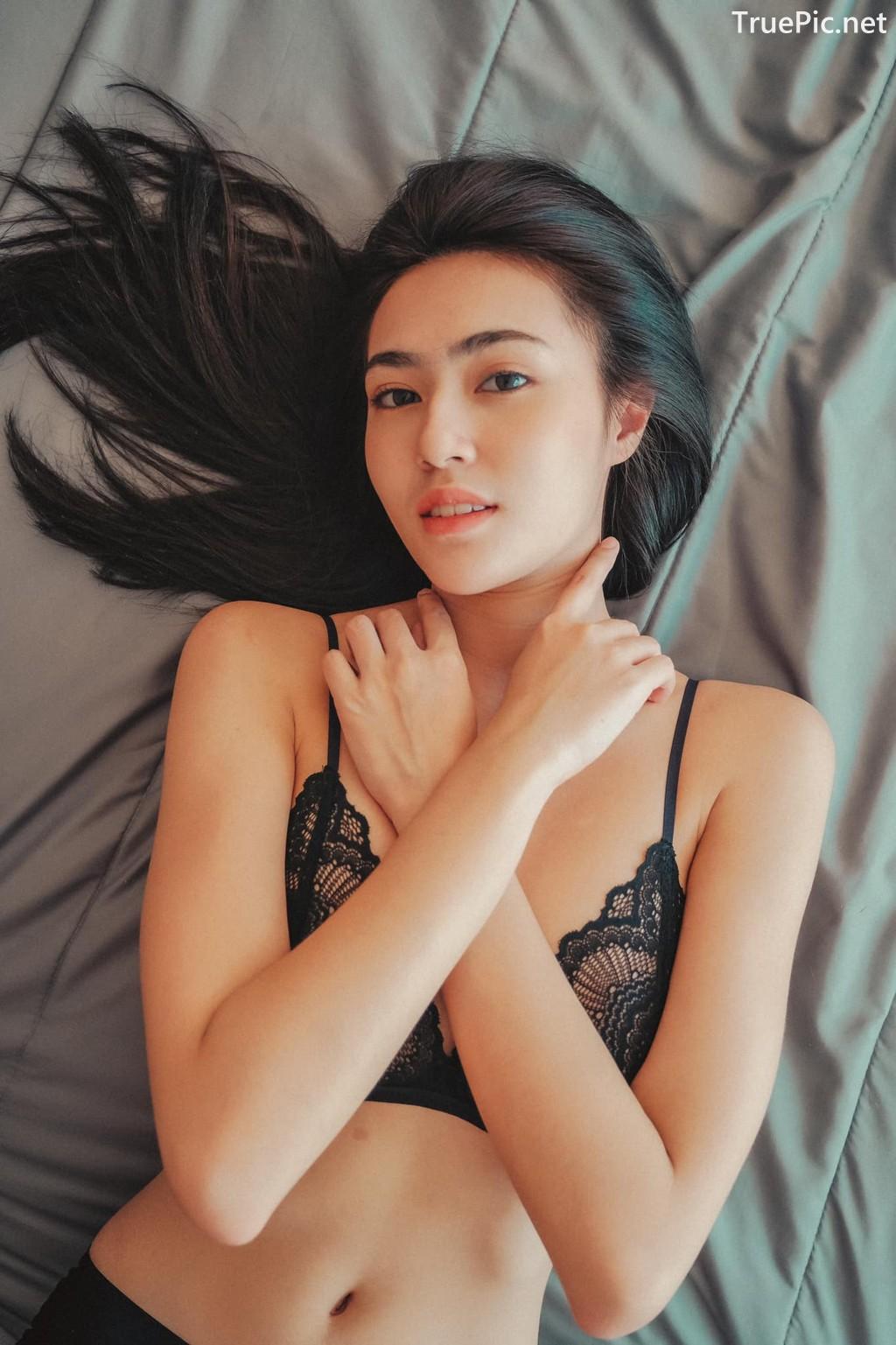 Image Thailand Sexy Model – Baifern Rinrucha Kamnark – Black Lingerie - TruePic.net - Picture-6