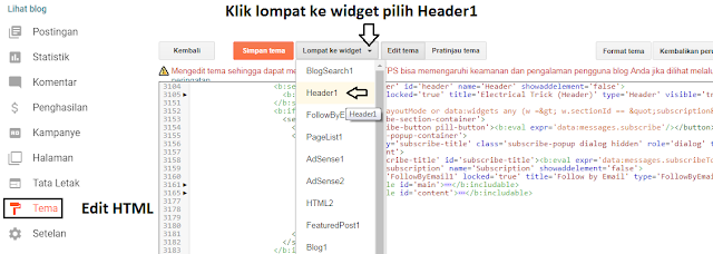 Cara Menambah Kolom Add Widget Blogger
