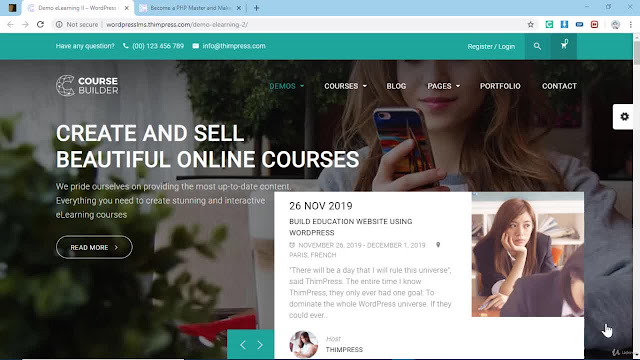 Create and Sell Online Courses in Website with WordPress LMS