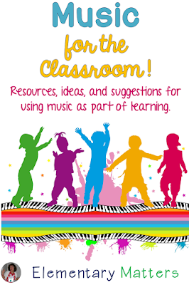 "Music is Magical! Playing ""Feel Good music in the classroom keeps everyone smiling. This post has a freebie list of music suggestions!"