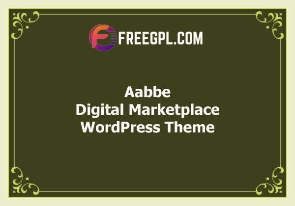 Aabbe - Digital Marketplace WordPress Theme Free Download