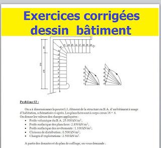 TD avec solution en dessin bâtiment. Examen de fin de formation OFPPT exercice dessin batiment pdf