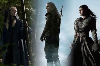 Ciri (Freya Allan), Geralt de Riv (Henry Cavill) et Yennefer de Vengerberg (Anya Chalotra)
