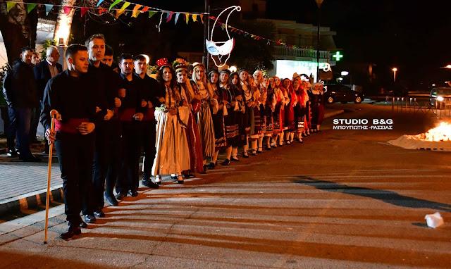 Το έθιμο των Φανών στην Κοζάνη αναβίωσε στη Νέα Κίο Αργολίδας (βίντεο)