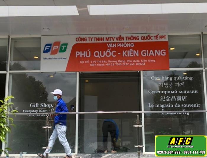 Thi công bảng hiệu quảng cáo FPT Telecom Phú Quốc