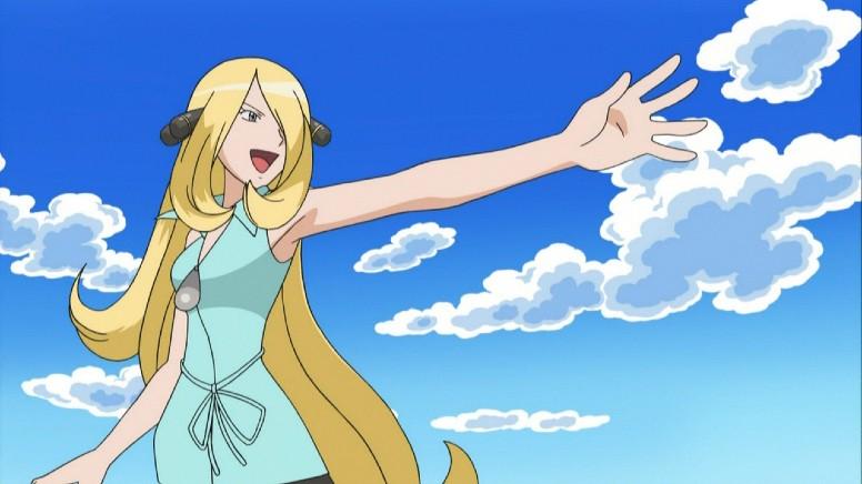 Cynthia Anime Pokémon