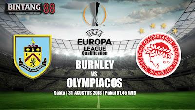 Prediksi Burnley vs Olympiacos 31 Agustus 2018