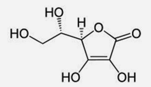 molecula estrutural acido ascorbico