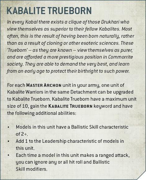 reglas kabalas Drukhari