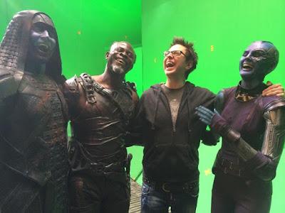 Guardianes de la Galaxia detrás de las cámaras