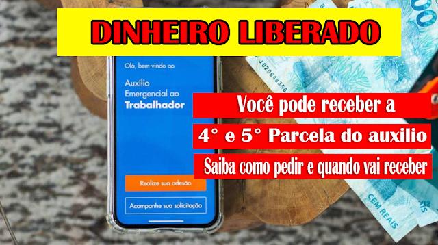 SAIBA COMO PEDIR MAIS DUAS PARCELAS DO AUXILIO EMERGENCIAL