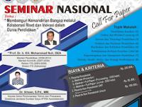 """Call For Paper """"Seminar Nasional 2019"""" di UNY"""