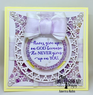 Our Daily Bread Designs Custom Dies: Filigree Circles, Double Stitched Circles, Stamp Set: God Quotes, Paper Collection: Christian Faith