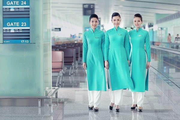 Đồng phục tiếp viên hàng không màu xanh vietnam airline