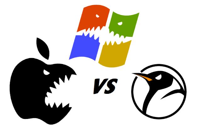 Windows vs Mac Apple vs Linux